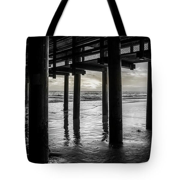 The Light Downunder - B And W Tote Bag