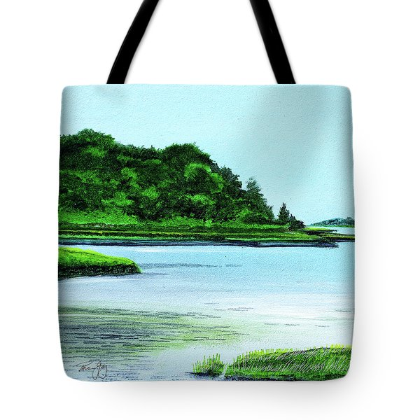 The Little River Gloucester, Ma Tote Bag