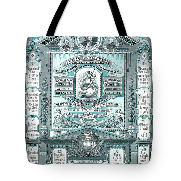 The Lords Prayer And The Ten Commandments Tote Bag
