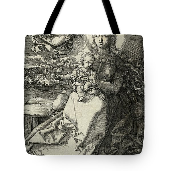 The Madonna Crowned By An Angel, 1520  Tote Bag