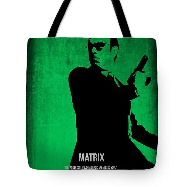 The Matrix Agent Smith Tote Bag