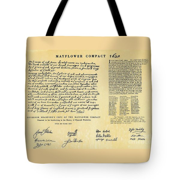 The Mayflower Compact  Tote Bag