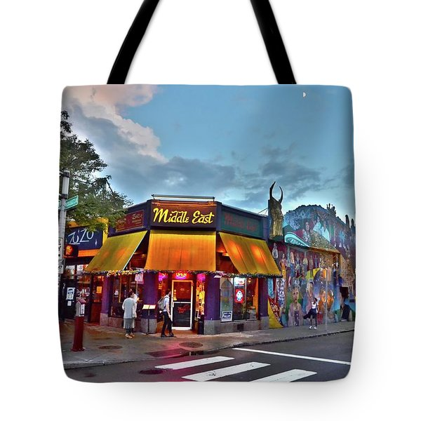 The Middle East In Cambridge Central Square Dusk Tote Bag