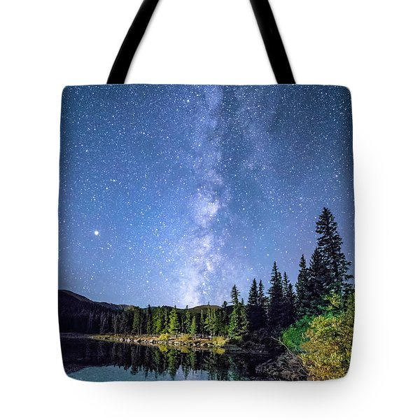 The Milky Way Over Echo Lake Tote Bag