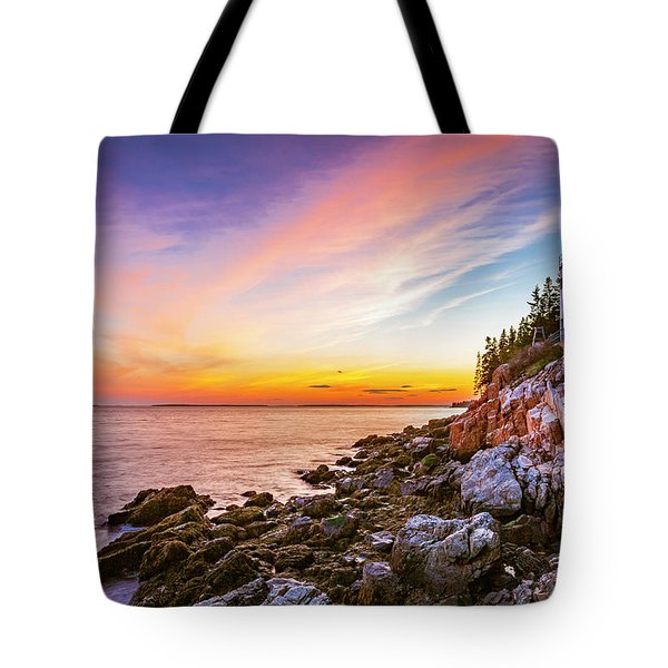 The Moment Of Sunset Tote Bag