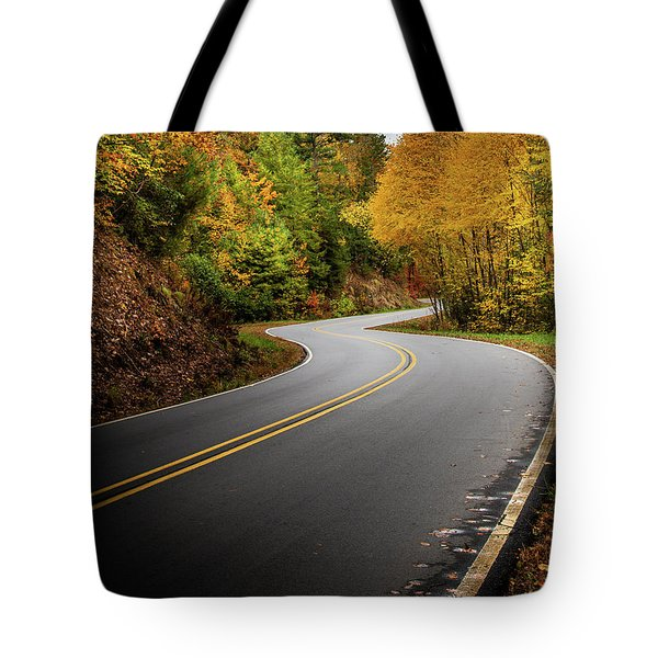 Tote Bag featuring the photograph The Mountain Road by Chrystal Mimbs