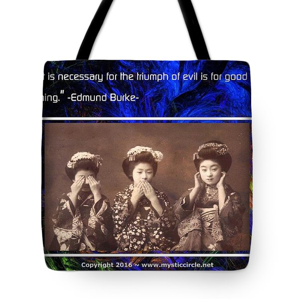 The Mystic Circle Inspirational Series One Five Tote Bag