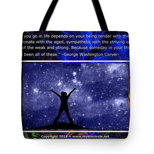 The Mystic Circle Inspirational Series One Three Tote Bag