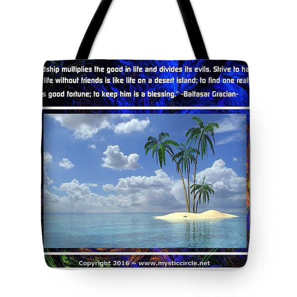The Mystic Circle Inspirational Series One Two Tote Bag