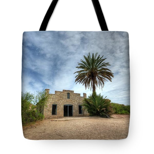 Tote Bag featuring the photograph The Oasis by Joe Sparks