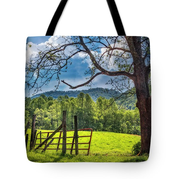 The Old Red Gate Tote Bag