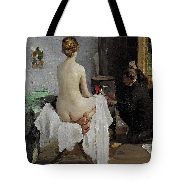 The Painter's Studio, 1896 Tote Bag