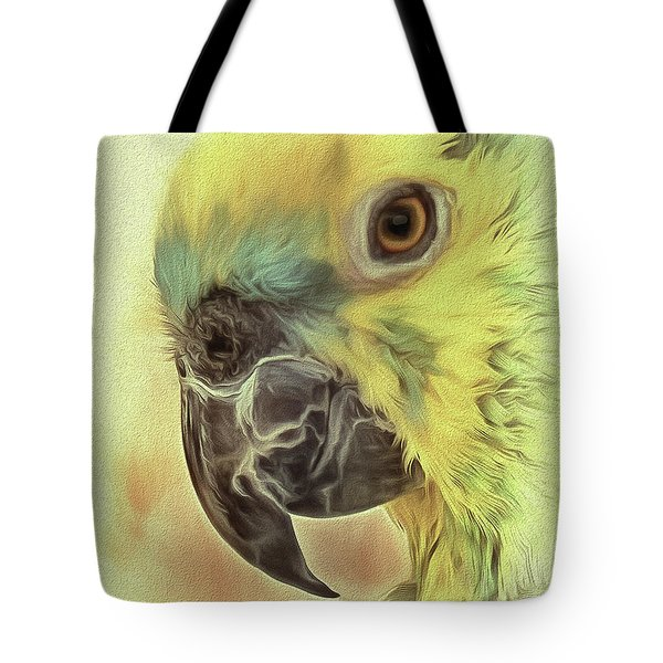 Tote Bag featuring the photograph The Parrot Sketch by Leigh Kemp