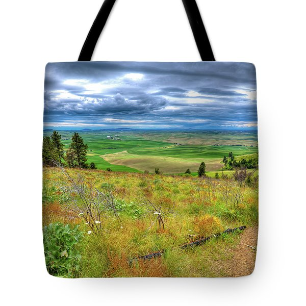 Tote Bag featuring the photograph The Path Down Kamiak Butte by David Patterson