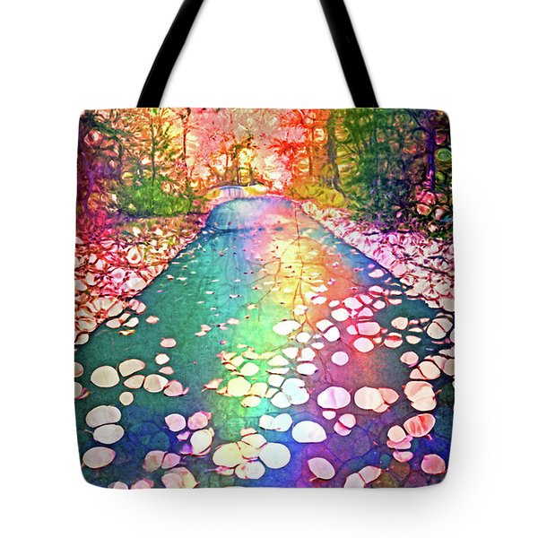 The Path Where Rainbows Meet Tote Bag