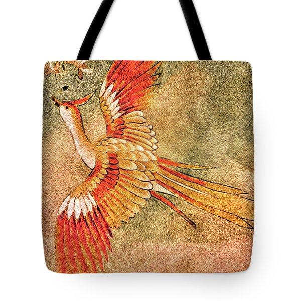 The Peahen's Gift - Kimono Series Tote Bag