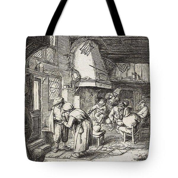 The Peasant Settling His Debt   Tote Bag