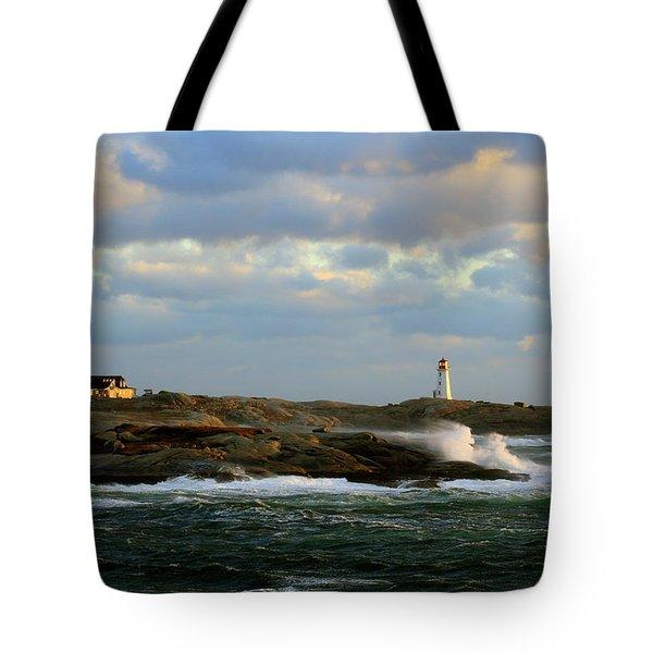 The Peggy's Cove Seascape Tote Bag