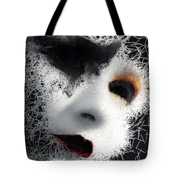 Tote Bag featuring the digital art The Phantom Of The Arts by ISAW Company