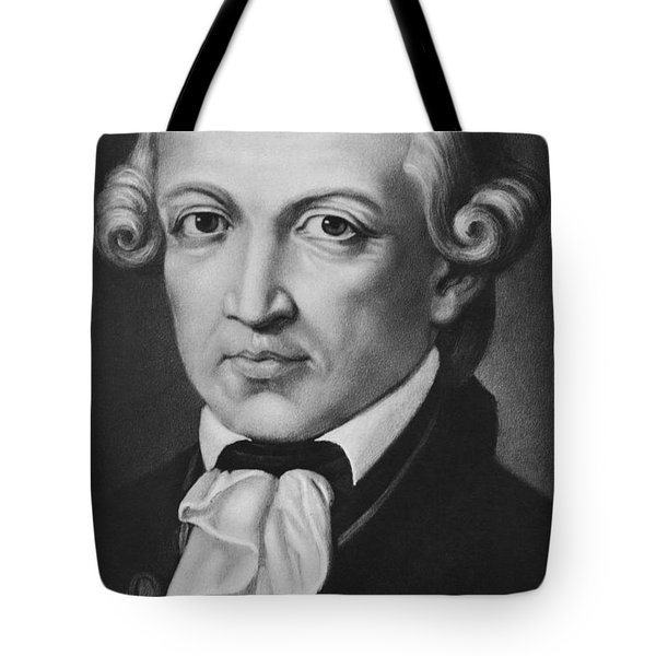 The Philosopher Immanuel Kant Tote Bag