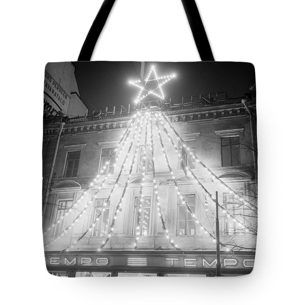 The Picture Shows The Tempo Christmas Lights At The Beginning Of Mannerheimintie In November 1960 H Tote Bag