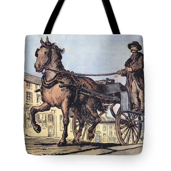 Tote Bag featuring the painting The Post Car, Clifden, Galway by Val Byrne