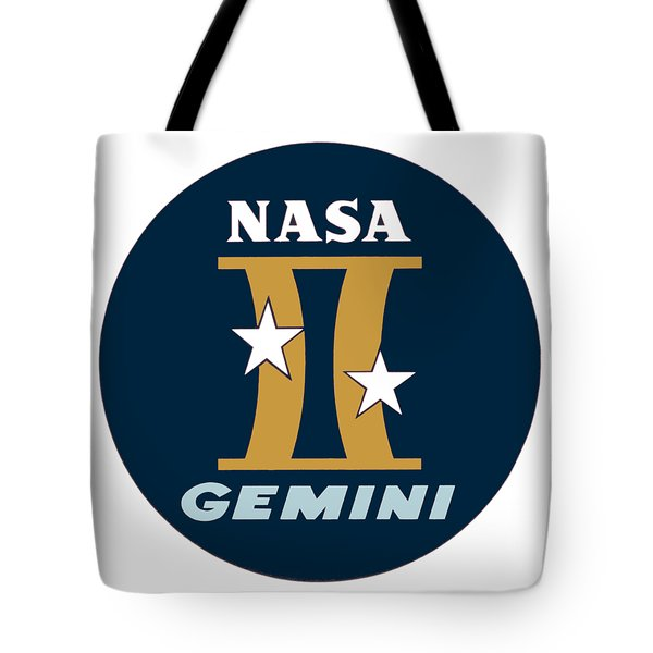 0419683588ff The Project Gemini Logo Tote Bag