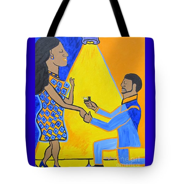 Tote Bag featuring the painting The Proposal by Christopher Farris