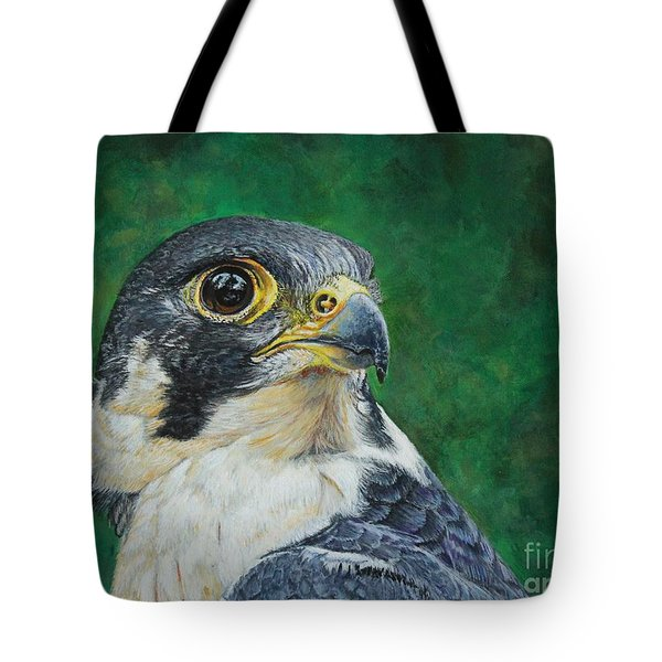 The Proud Peregrine....fastest Creature On The Planet Tote Bag