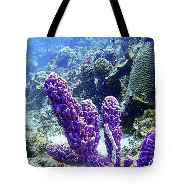 The Purple Sponge Tote Bag
