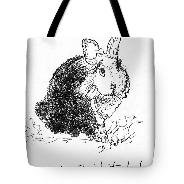 The Rabbit Lady Drawing Tote Bag