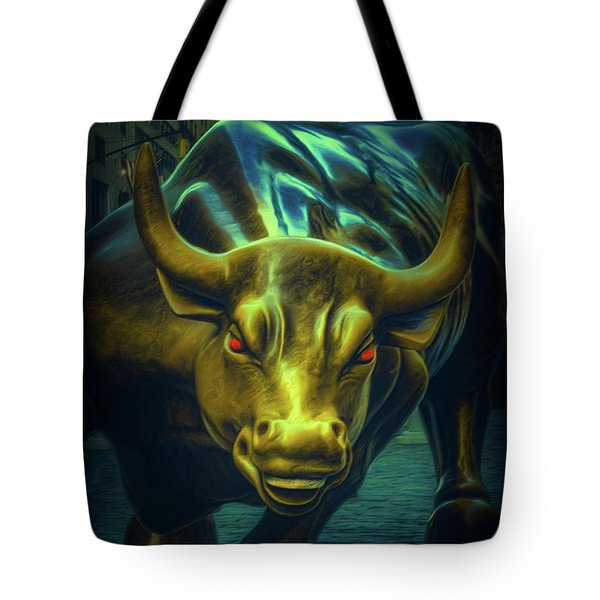 Tote Bag featuring the photograph The Raging Bull by Chris Lord