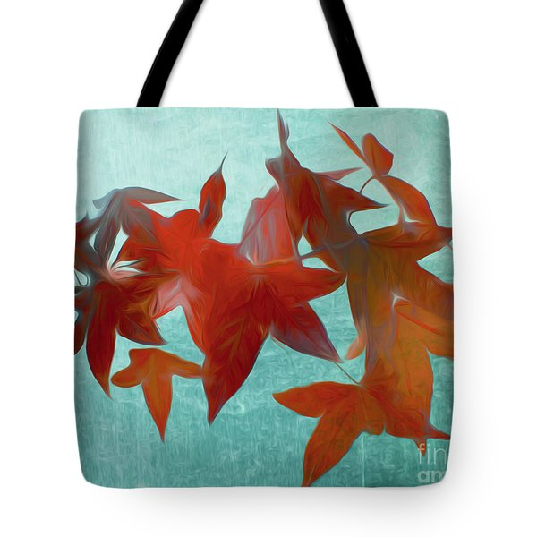 The Red Leaves Tote Bag