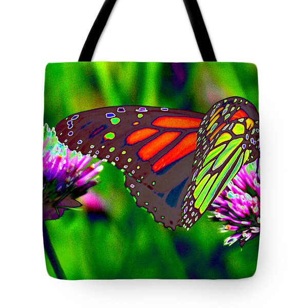 The Red Monarch Butterfly Tote Bag