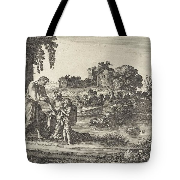 The Repudiation Of Hagar, Moses Van Uyttenbroeck, After 1646 - 1696 Tote Bag
