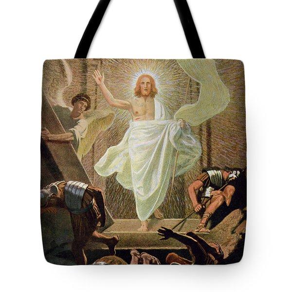 The Resurrection Of Christ By Gebhard Fugel Tote Bag