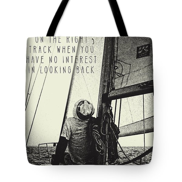 The Right Track Tote Bag