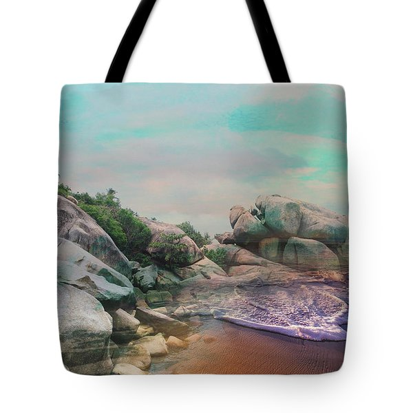 The Rising Tide Montage Tote Bag