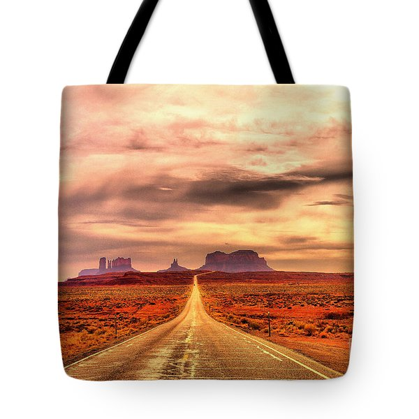 The Road To Monument Valley Tote Bag