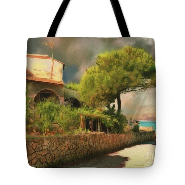 Tote Bag featuring the photograph The Road To The Sea by Leigh Kemp