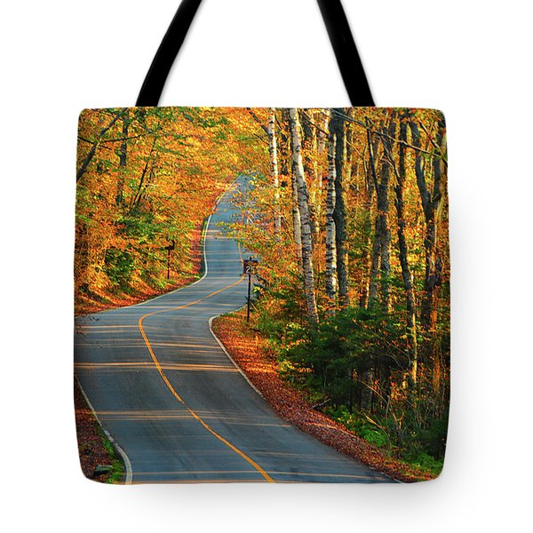 Tote Bag featuring the photograph The Road Up Mount Greylock by Raymond Salani III