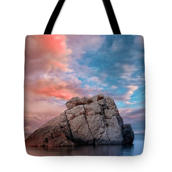 The Rock And The Sea Tote Bag