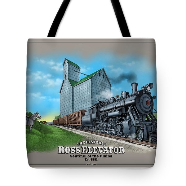 The Ross Elevator Sentinel Of The Plains Tote Bag