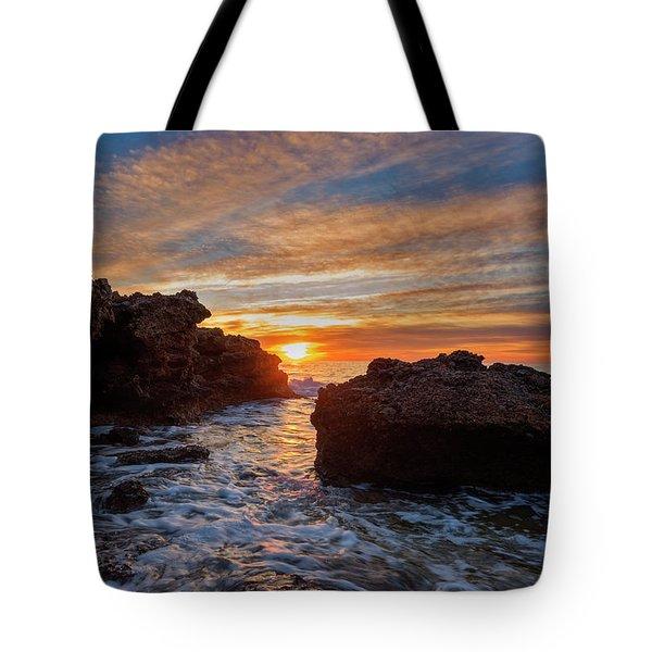 The Sea In Oropesa At Sunrise On The Orange Blossom Coast Tote Bag