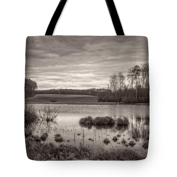 Tote Bag featuring the photograph The Seeli-pond by Bernd Laeschke
