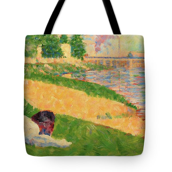 The Seine With Clothing On The Bank - Digital Remastered Edition Tote Bag
