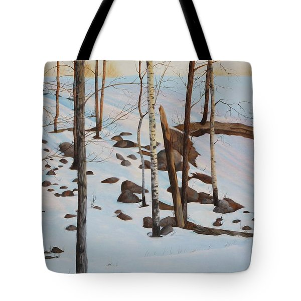 Tote Bag featuring the painting The Sentinels by Tammy Taylor
