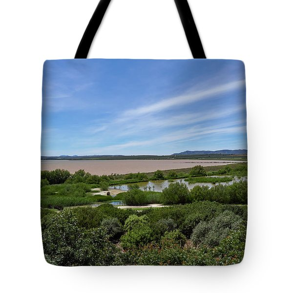 The Shallow Water Salt Lagoon Of Fuente De Piedra In Andalucia, Spain  Tote Bag