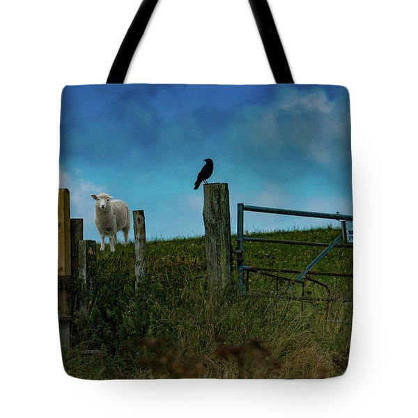 Tote Bag featuring the photograph The Sheep That Hates Dogs by Chris Lord