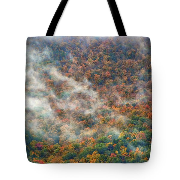 Tote Bag featuring the photograph The Shoulder Of Greylock by Raymond Salani III